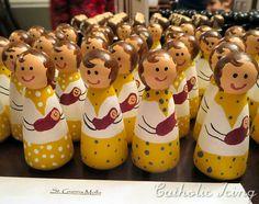 st. gianna molla catholic saint peg doll