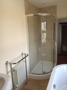 Image Of Tiled Shower Enclosure in a bathroom installation project by UK Bathroom Guru