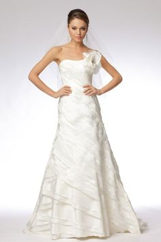A-line taffeta sleeveless bridal gown - i don't believe people will believe that i absolutely love this dress