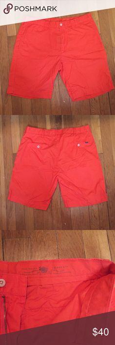 "Men's Polo Ralph Lauren Shorts Men's size 34 orange chino shorts. 9"" inseam. Perfect condition. Polo Ralph Lauren. Polo by Ralph Lauren Shorts Flat Front"