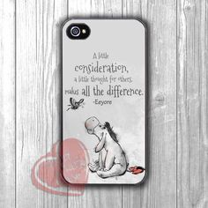 A Little Consideration - zDa, Eeyore, Quote, Winnie The Pooh, Piglet, Mickey Mouse