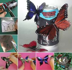How to DIY Aluminum Butterfly from Recycled Tin Cans | www.FabArtDIY.com LIKE Us on Facebook ==> https://www.facebook.com/FabArtDIY