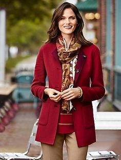 Talbots - Flower Bouquet Scarf | | Discover your new look at Talbots. Shop our Flower Bouquet Scarf for stylish clothing and accessories with a modern twist at Talbots