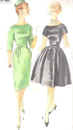 1960s Misses Party Cocktail Dress Sewing by MissBettysAttic, $12.00