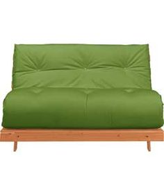 Tosa Pine Futon Sofa Bed With Mattress Green