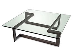 Most homes today will probably have a glass coffee table since it is extremely common. This type of coffee table tends to add elegance and style to any room. The type of glass that is used for the table top is smoked or a clear thick pane. Iron Furniture, Steel Furniture, Industrial Furniture, Table Furniture, Furniture Design, Coffe Table, Coffee Table Design, Steel Table, Center Table