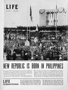 Life Magazine, July 22, 1946, Philippine Republic is Born, Page 19 by John T Pilot, via Flickr
