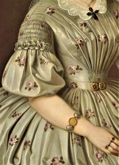 Peter Michael Bohun, Portrait of Vilma Ruttkay Historical Dress, Historical Costume, Historical Clothing, Victorian Art, Victorian Fashion, Vintage Fashion, Fashion History, Fashion Art, 1850s Fashion