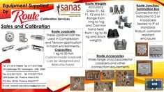 Loadcell Manufacturing and Services - Suppliers of all weighing Equipment to the Industrial sector of South Africa. Sales of Weighing products. Custom made Loadcells and Instrumentation. Junction Boxes for better connection. Calibration of Scales and Mass Pieces. SANAS Accredited Calibration Laboratory. Enquiries and FREE Quotations: Contact: +27 (11) 615-7068/88 JHB or +27 (12) 327-7312/14 PTA E-mail: loadcell.manufacturing@gmail.com or sales@routecalibration.co.za Junction Boxes, Pta, South Africa, Quotations, Connection, Industrial, Free, Products, Industrial Music