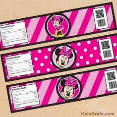 minnie mouse bottle labels FREE Printable Minnie Mouse Water Bottle Labels