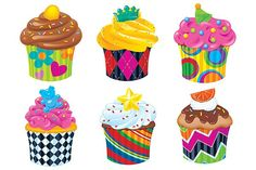 Cupcakes (The Bake Shop™) Classic Accents® Variety Pack Classroom Decor Themes, Classroom Ideas, Classroom Resources, Kindergarten Classroom, Summer Cupcakes, Buckwheat Cake, Birthday Wall, Graphing Activities, Salty Cake