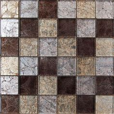 Lapis Galaxy Coffee Mix Mosaic Tiles - 300 x 300mm at Homebase -- Be inspired and make your house a home. Buy now.