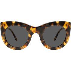 Illesteva Boca Tortoise Sunglasses ($220) ❤ liked on Polyvore