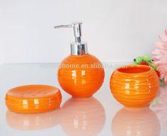 Orange Accessories For Bathroom