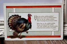Antique Thanksgiving Embossed Postcard of a by onestrangegirl, $3.50