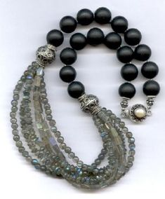 Labradorite & Obsidian Necklace