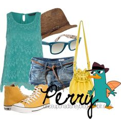 Perry the Platypus (Phineas and Ferb) How cool is that!