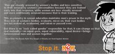 See what Naomi had to say about Women Objectification. Read each word carefully.