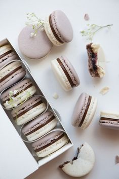 Ahh, The Pretty Things — earl grey cassis macarons