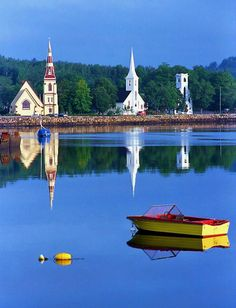 The three churches of Mahone Bay, Nova Scotia Lunenburg Nova Scotia, Nova Scotia Travel, Canadian Travel, Canadian Rockies, Atlantic Canada, O Canada, Alberta Canada, Prince Edward Island, New Brunswick