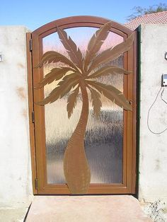 Palm Tree Amp Turtle Wrought Iron Security Screen Door With