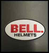 BELL Logo Helmet Racing Biker Race Patch Iron on Jacket T-shirt Cap Suit Sign in Collectibles, Transportation, Automobilia, Patches   eBay