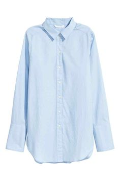 Wijde katoenen overhemdblouse | H&M