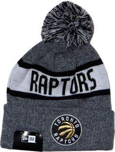 eb71830a9f3 New Era NBA Team 2017 Marl Knit Bobble Hat. Grey with the Toronto Raptors