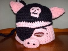 Ravelry: Pirate Piggie Mask pattern by Tina Spears