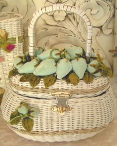 An aqua velvet strawberry basket ~~~~ I don't think this would be too hard to make ~ providing you find a suitable basket.