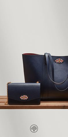 Discover the new style of postman's lock at Mulberry.com. This new postman's lock closure features a enamel Union Jack detail which is available in numerous styles of Mulberry products.