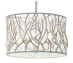 """Sylvan Chandelier - Cast Resin; Includes Canopy & 3ft Chain  *Four Bulbs Not to Exceed 40W  30"""" Diameter x 37.8""""H"""