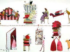"""Geschenkpapier - Geschenkpapier """"Silke Leffler"""" ♥ BÜCHERLIEBE ♥ - ein Designerstück von buchundbox bei DaWanda"""