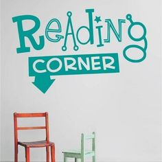 Reading corner. This item can be application for nursery and kids room decor. This item is available 1 size and 15 different colours. All items come in sections and can be positioned as you wish.  Material: PVC/Vinyl.  Small size: 25cm(h) * 51cm(w).  Color: Black, White, Pink, Green, Red, Orange, Purple, Dark Coffee, Dark Blue, Dark Gray, Light Blue, Light Coffee, Light Grey, Light Purple, Orange Yellow. Grey Light, Light Purple, Dark Blue, Nursery Wall Decals, Nursery Decor, Room Decor, Wall Stickers Quotes, Wall Quotes, Color Black