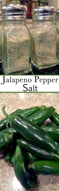 to Make Your Own Jalapeno Pepper Salt Jalapeno salt is quite expensive, so make your own.Jalapeno salt is quite expensive, so make your own. Homemade Spices, Homemade Seasonings, Spice Blends, Spice Mixes, Chutney, Salsa Picante, Jalapeno Recipes, Canning Recipes, Smoker Recipes
