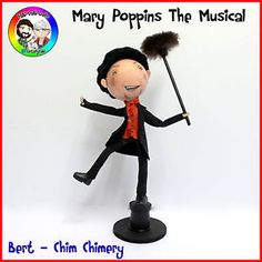 The Winds from the east are blowing in something FaBi with our Mary Poppins Bert Peg Doll. Handmade Collectable peg doll from FaBi DaBi Dolls. Dolls are approx tall though vary doll to doll. Mary Poppins Musical, Mary Poppins And Bert, Chimney Sweep, Clothespin Dolls, Collector Dolls, Mickey Mouse, Musicals, Disney Characters, Children