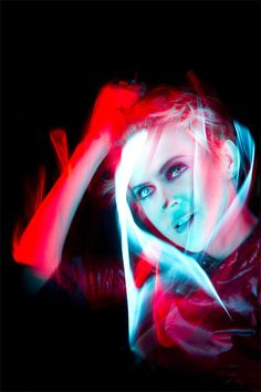 Geneviève Borne, TV host | Light Painting by Patrick Rochon Light Trail Photography, Light Painting Photography, Graffiti Photography, Photography Pics, Distortion Photography, Multiple Exposure, Long Exposure, Portrait Lighting, Light Trails