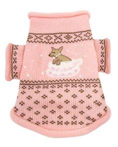 Pink Teacup  Dog Sweater