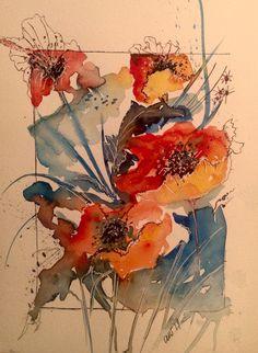Trendy Art Sketchbook Ideas Flowers Water Colors Trendy Art Sketchbook Ideas Flowers Water C Watercolor Painting Techniques, Watercolor Artists, Watercolor And Ink, Watercolor Flowers, Painting & Drawing, Watercolor Paintings, Art Sketchbook, Watercolor Sketchbook, New Art