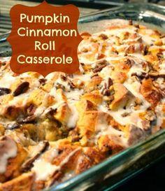 Pumpkin Cinnamon Roll Casserole Recipe