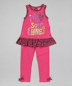 This Fuchsia Cheetah Tank & Leggings - Infant, Toddler & Girls is perfect! #zulilyfinds