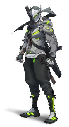 View an image titled 'Genji Character Art' in our Overwatch 2 art gallery featuring official character designs, concept art, and promo pictures. Overwatch Comic, Genji Overwatch, Overwatch Fan Art, Game Character Design, Fantasy Character Design, Character Concept, Character Art, Concept Art, Genji And Hanzo