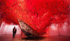 Chiharu Shiota - Venice Art Bienalle 2015