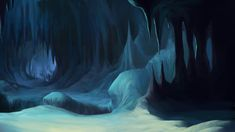 The main focus for this painting was to be a sort of establishing shot for this large interior chamber of a cave. Description from deviantart.com. I searched for this on bing.com/images