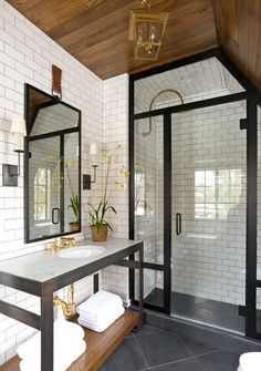 Summer Thornton Design, Inc - Steel Shower Frame