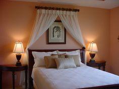 Dark Orange in Tropical Bedroom Design
