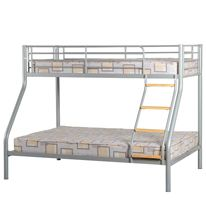 Seconique Toby Triple Sleeper Bunk Bed in Silver Finish: Silver Sizes: Single: W90cm Double: W135cm http://www.comparestoreprices.co.uk/bunk-beds/seconique-toby-triple-sleeper-bunk-bed-in-silver.asp