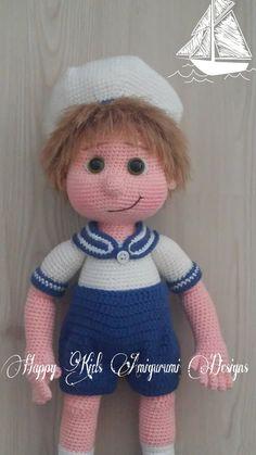 SAILOR BOY-Amigurumi Crochet Pattern-PDF by ArzuAmigurumiDesigns