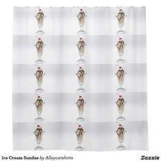 Ice Cream Sundae Shower Curtain