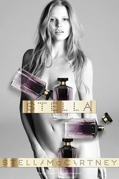 Lara Stone Naked In Stella McCartney Fragrance Campaign (Vogue.com UK)